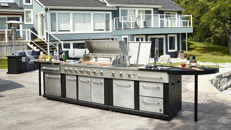 Outdoor Küche selber bauen moderne Geräte