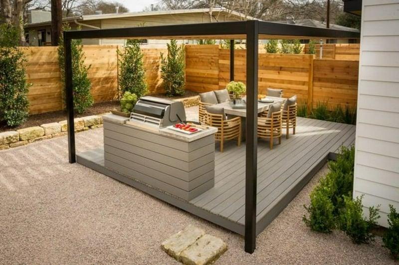 Outdoor Küche selber bauen Pergola