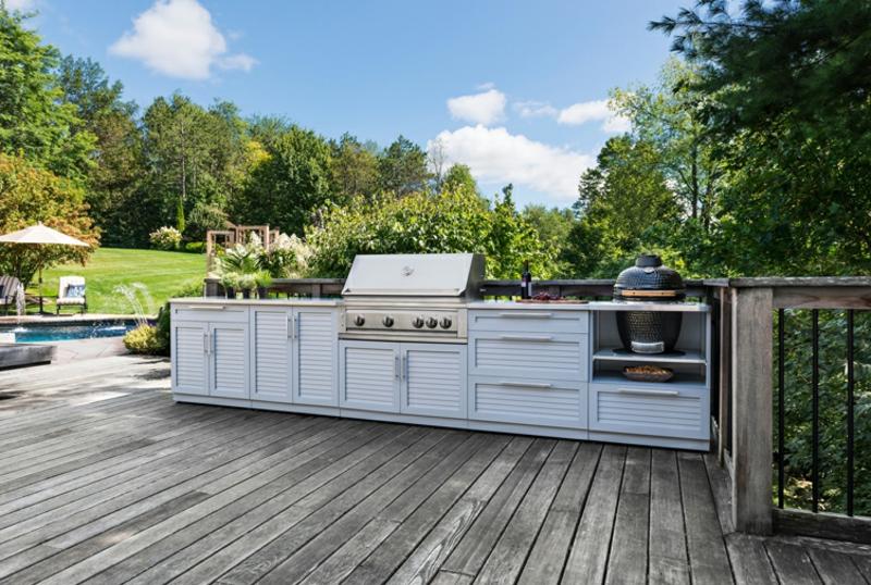 Outdoor Küche selber bauen Terrasse