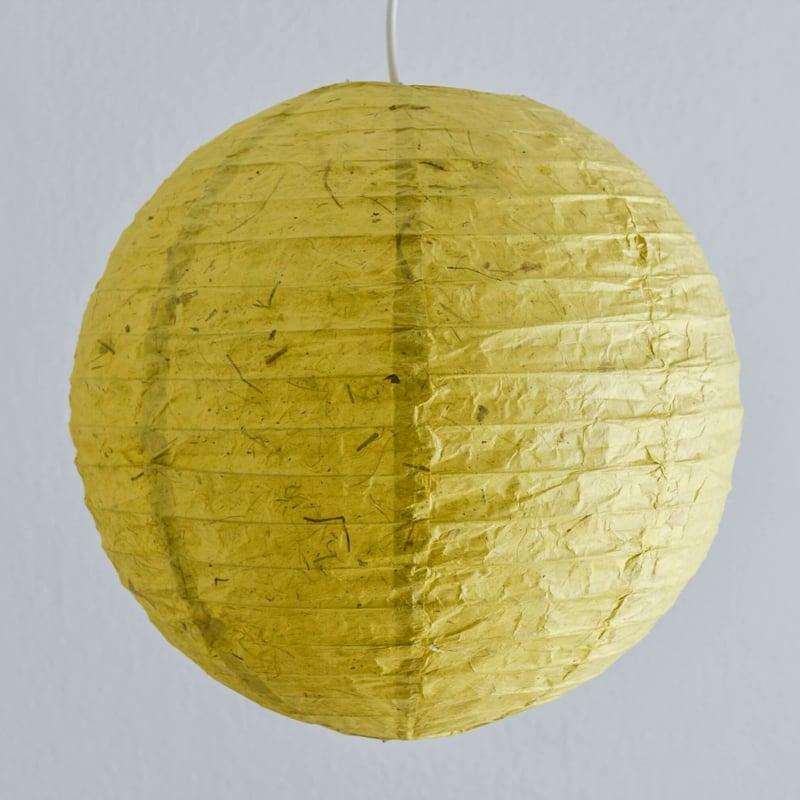 Papierlampe Pappmache olivgrün