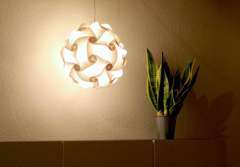 Designer Pendelleuchte Papier sanftes Licht