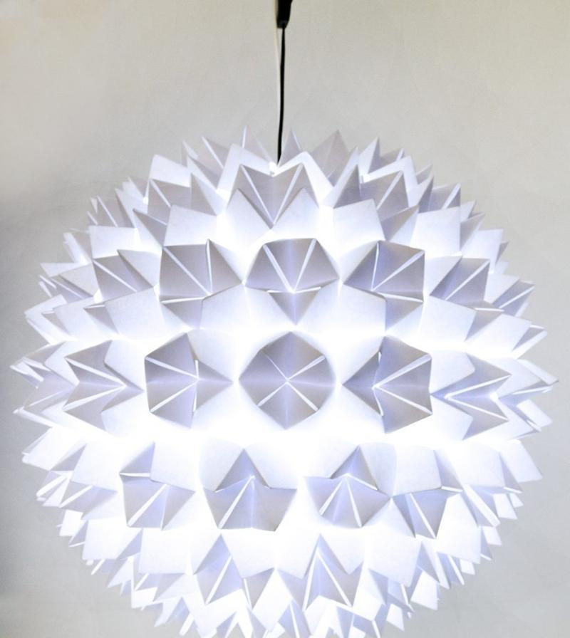 Pendelleuchte aus Papier sanftes Licht