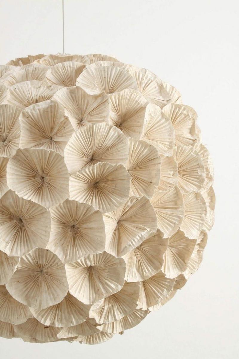 Papierlampe mit Muffinformen dekorieren