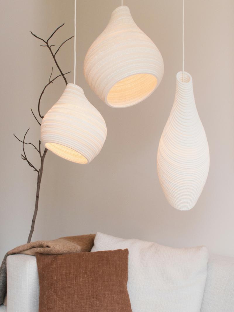 ausgefallene Papierlampen interessante Formen