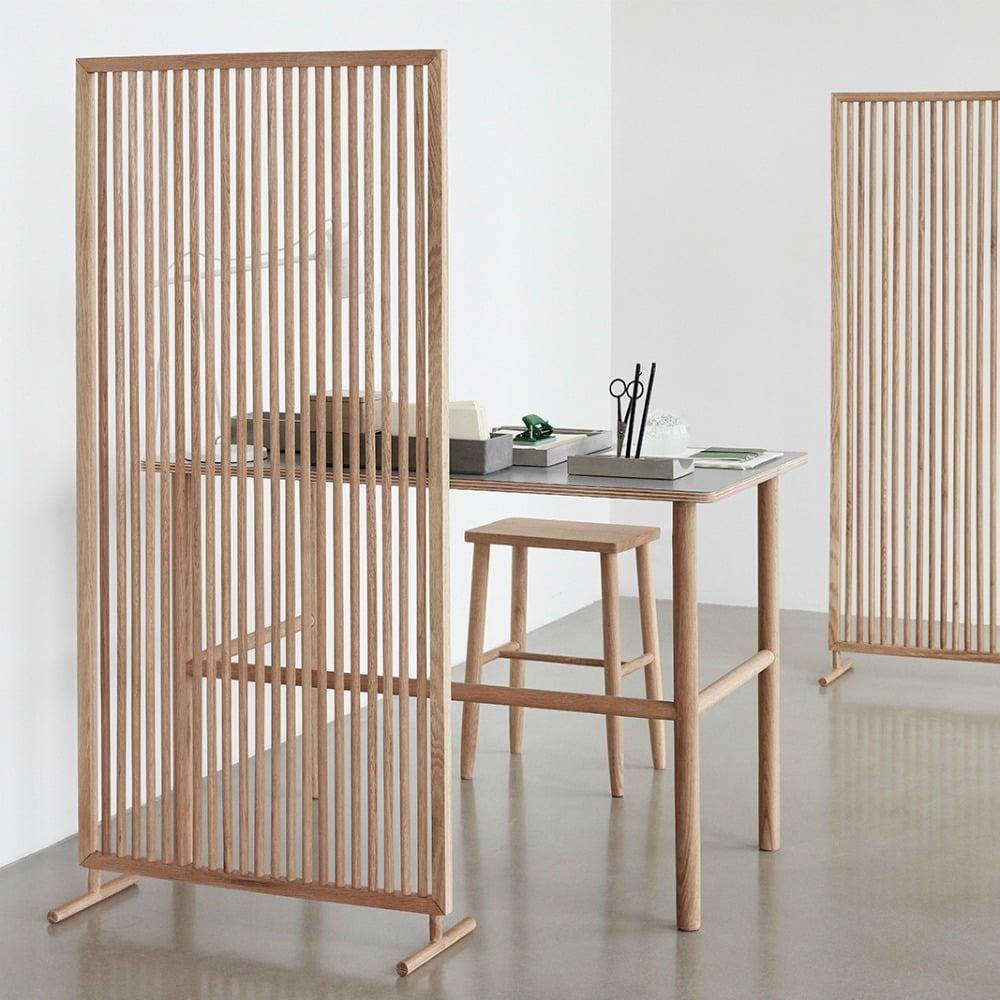 Raumteiler Ideen freistehend Holz stilvoller Look