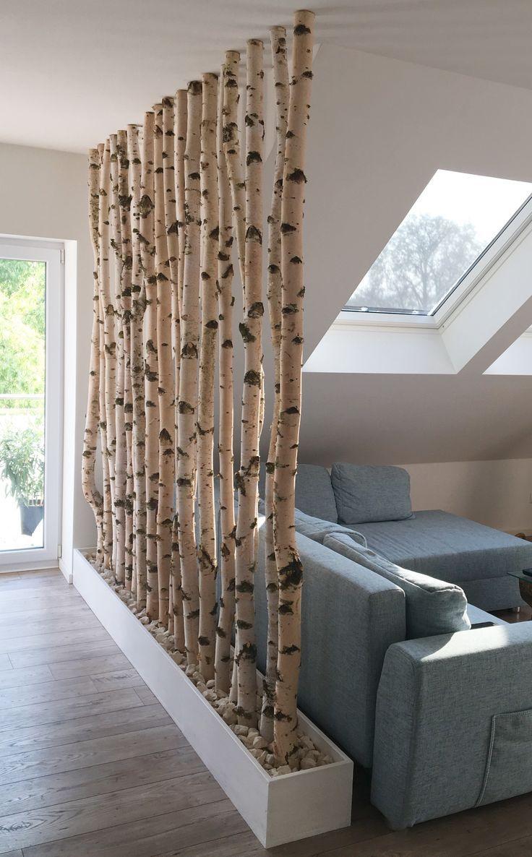dekorative Trennwand Birke