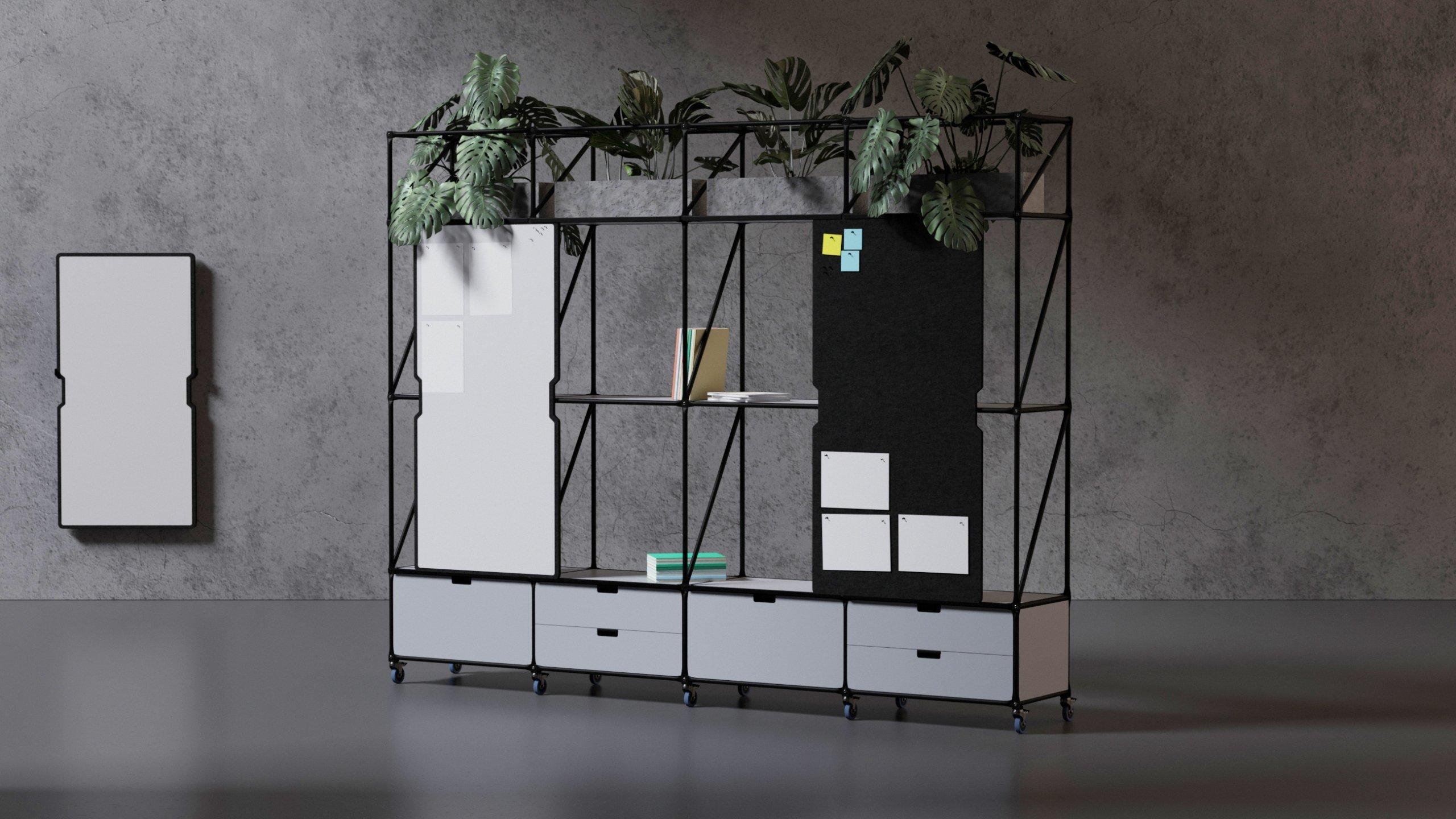 lebendige Trennwand mit Pflanzen
