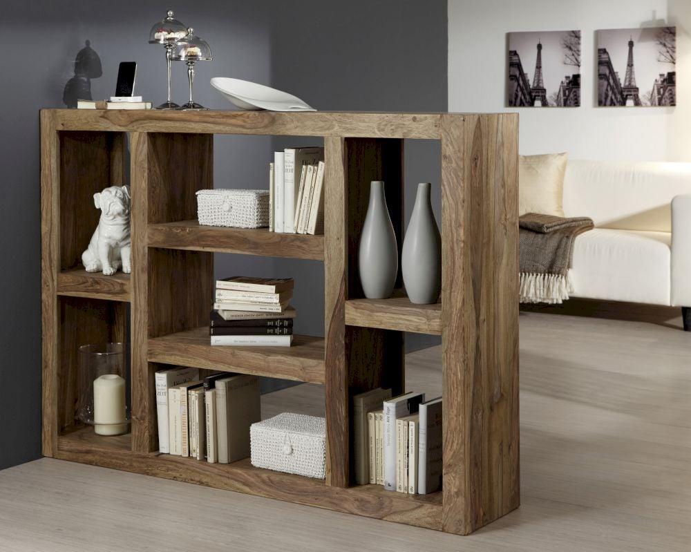 Regalsystem Holz statt Trennwand