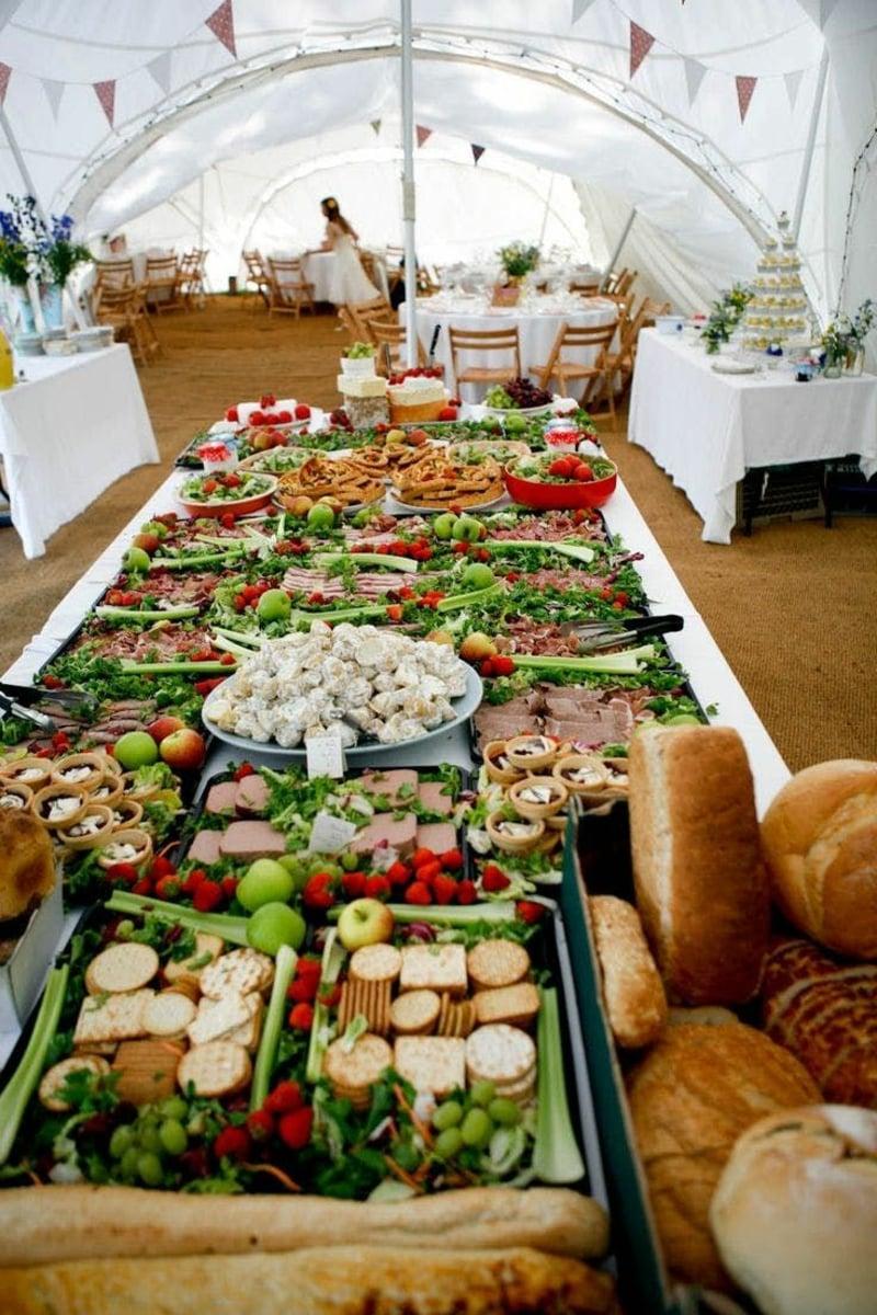 Hochzeit Buffet Ideen viel Fingerfood