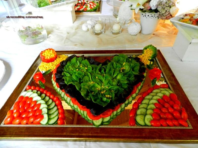 tolle Salatplatte Hochzeit