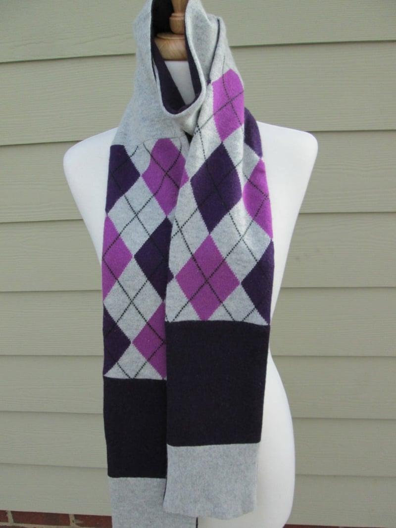 Upcycling Kleidung Schal selber machen