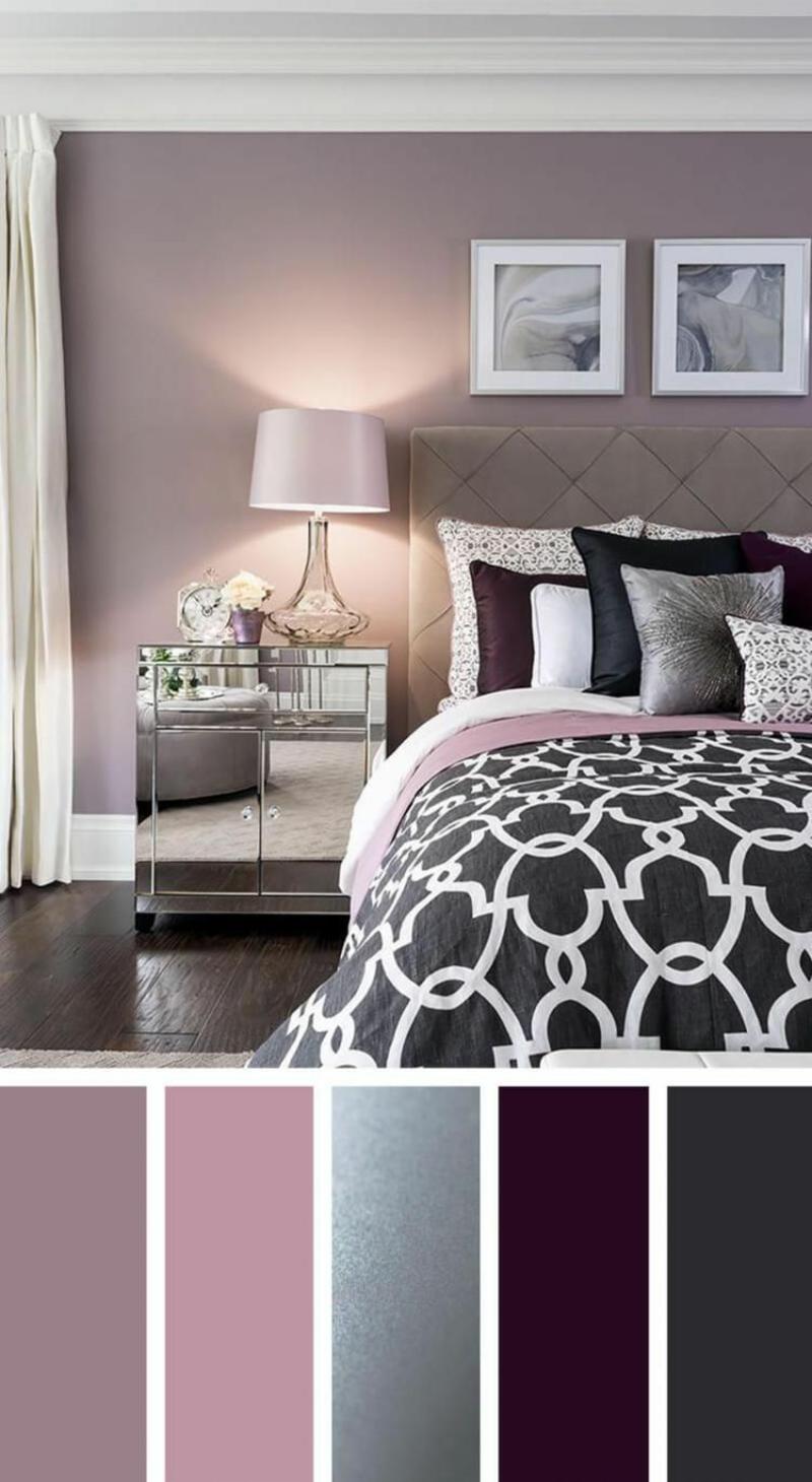 Raumgestaltung mit Farben Palette pastellige Töne