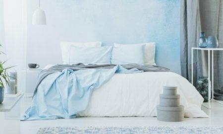 Raumgestaltung mit Farben Hellblau Schlafzimmer