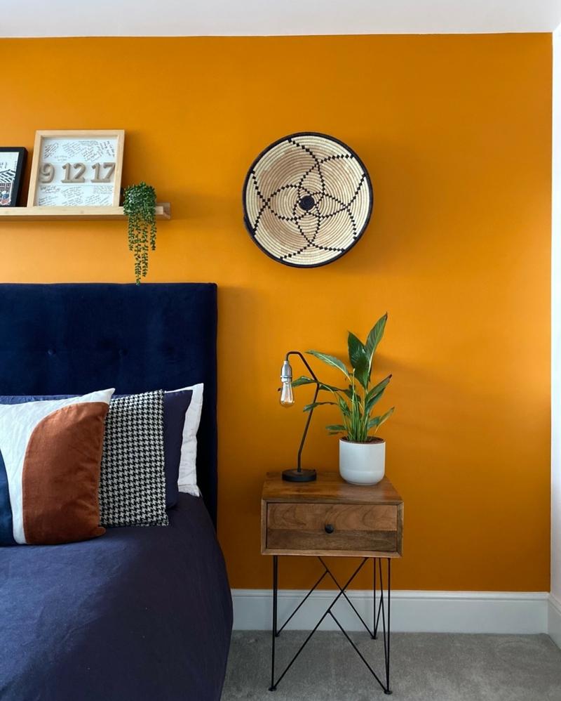 Raumgestaltung mit Farben Sonnengelb Schlafzimmer
