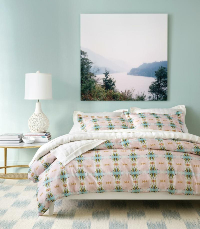pastelliges Blau Schlafzimmer