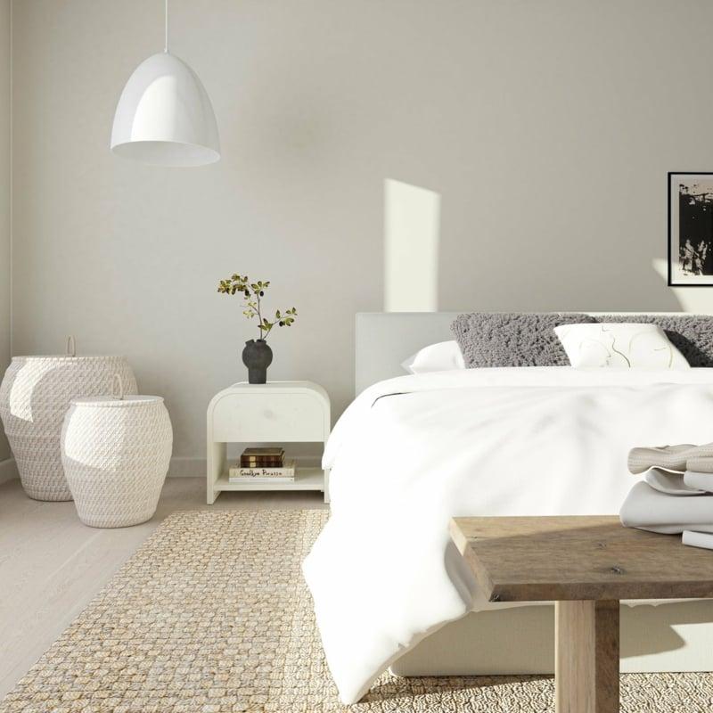Raumgestaltung mit Farben Neutraltöne Schlafzimmer