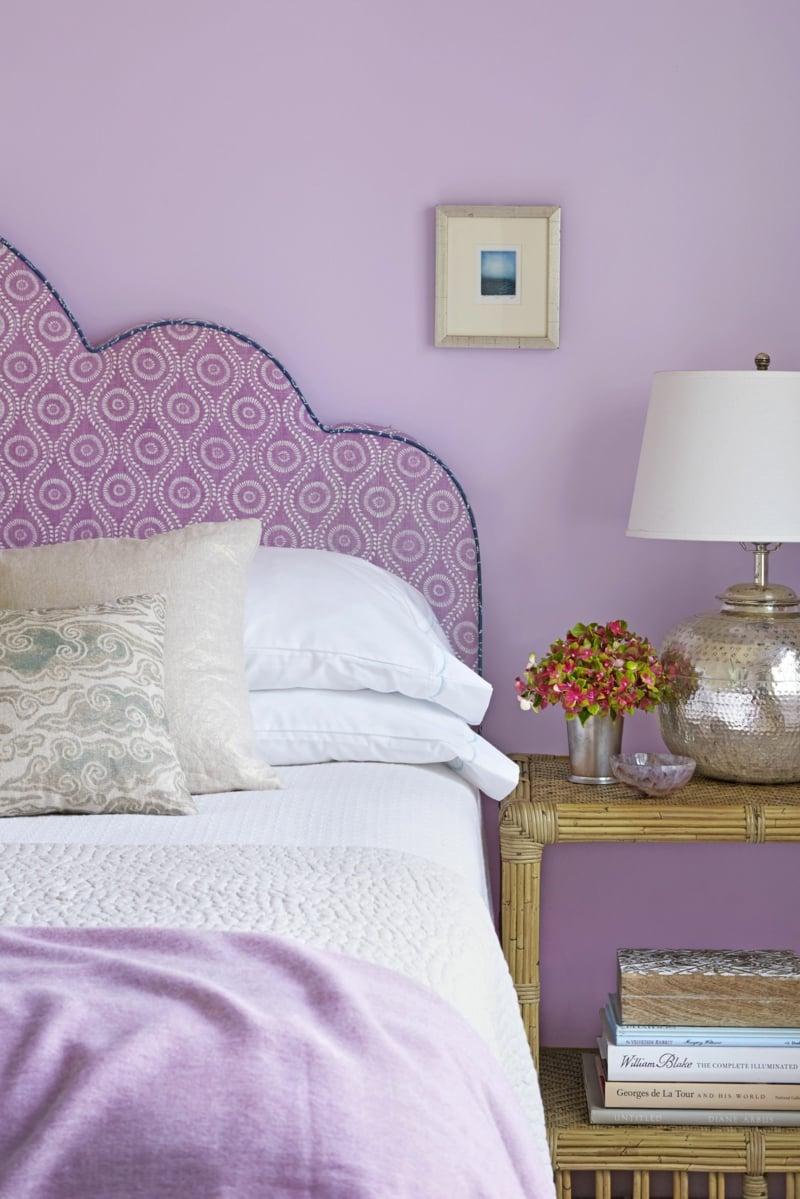 Raumgestaltung mit Farben Schlafzimmer pastelliges Lila