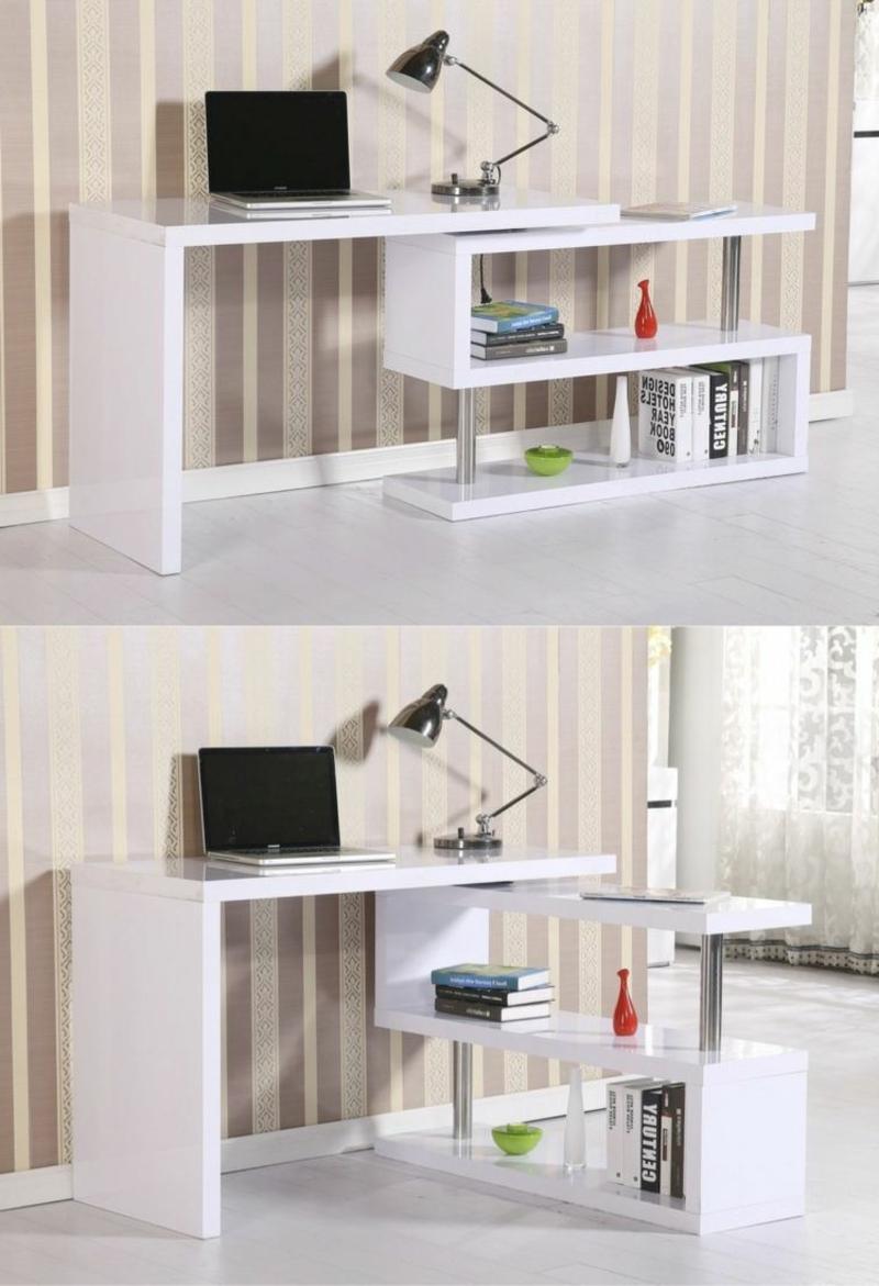 Arbeitszimmer Einrichtung praktischer Schreibtisch