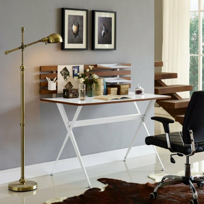Arbeitszimmer Einrichtung Schreibtisch ausklappbar