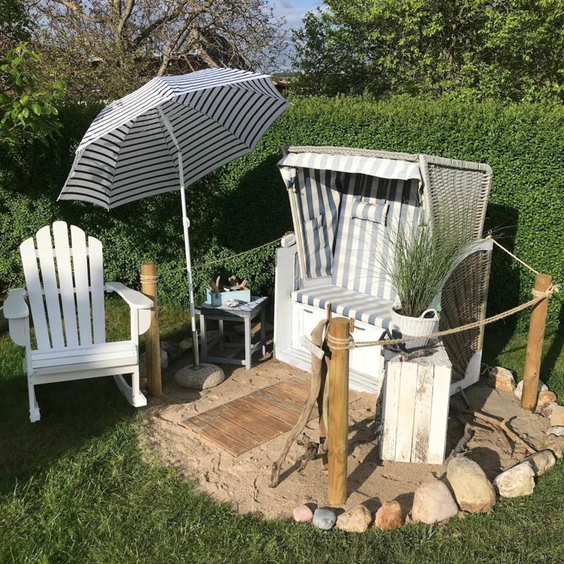 Garten maritim gestalten Sitzecke