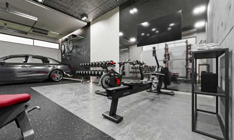 Fitnessraum Zuhause Ausstattung