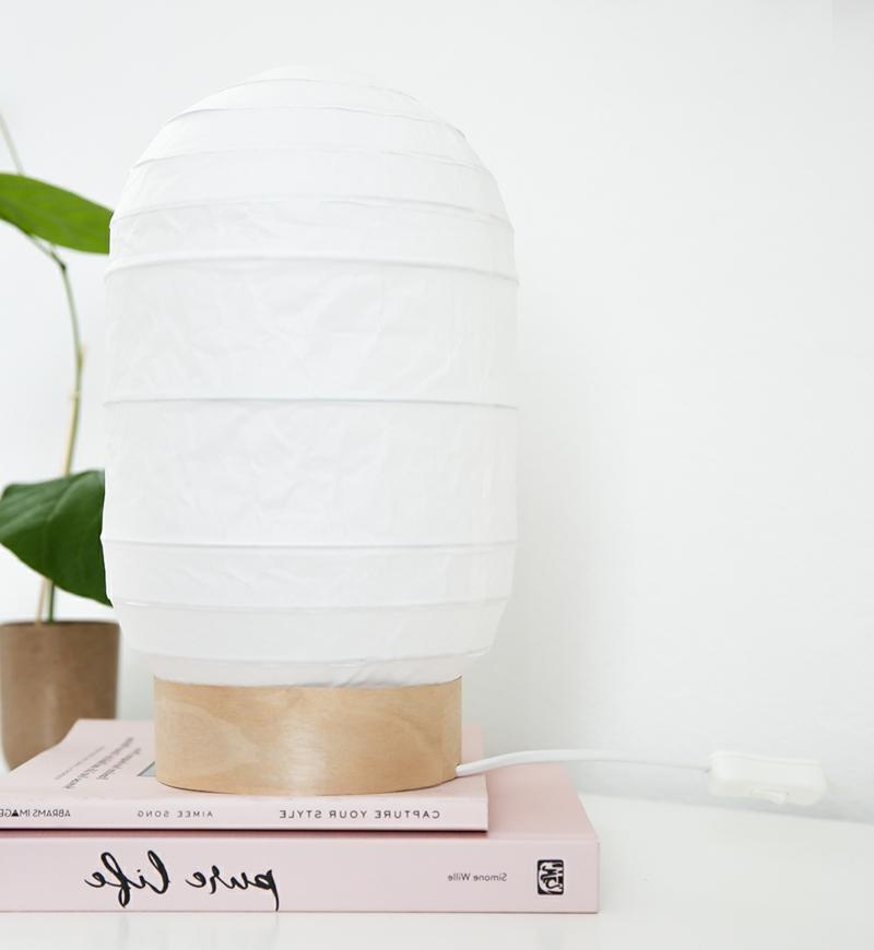 Papierleuchten Reispapier praktische Stehlampe