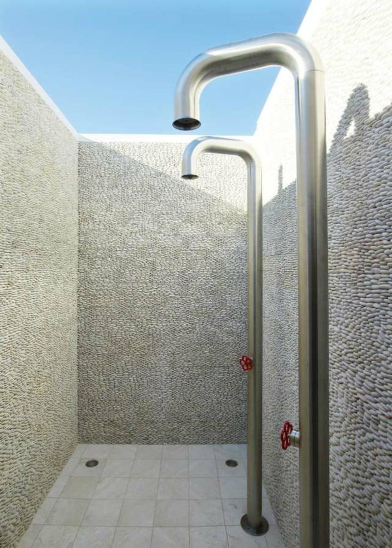 Duschkabine Strandhaus modern