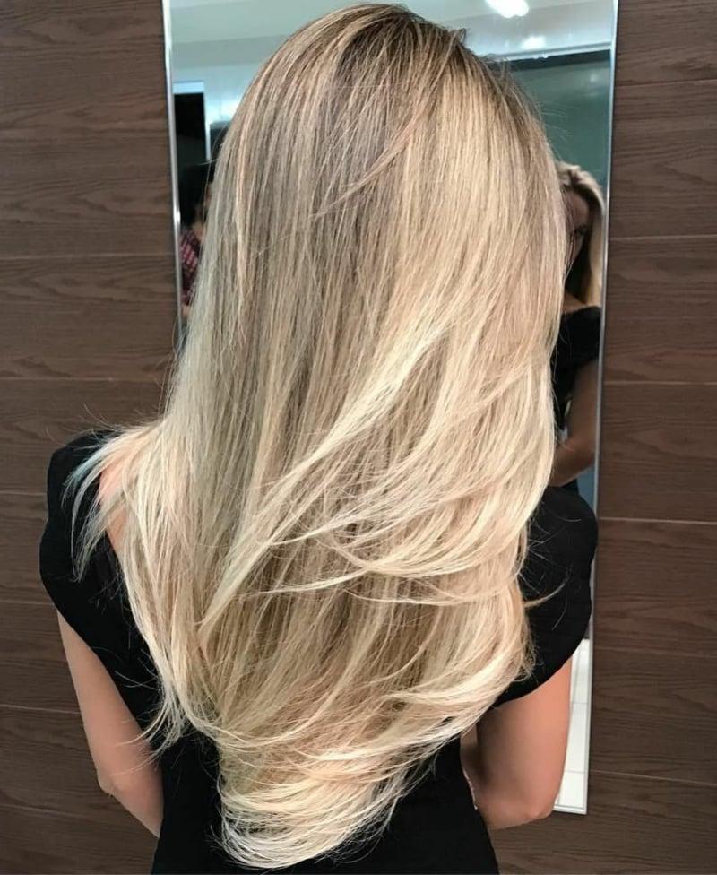 Stufen Frisur für lange Haare