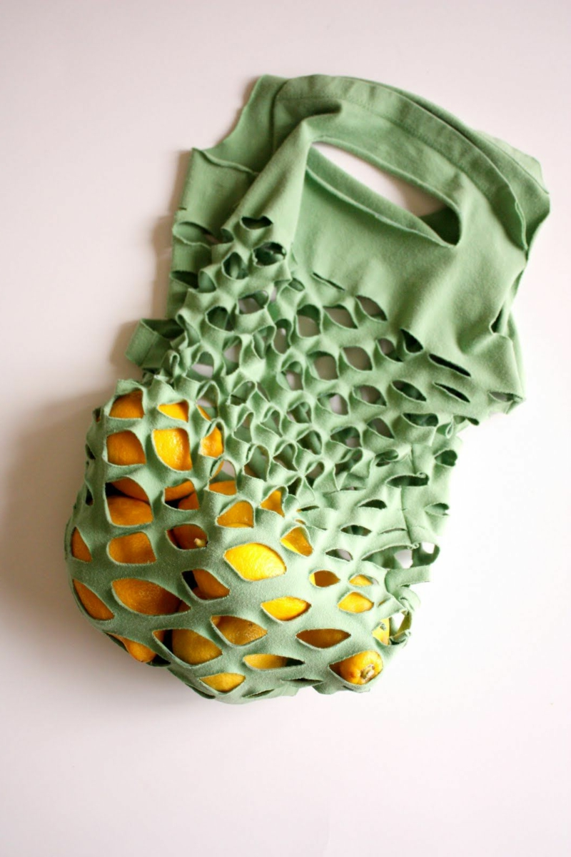 Upcycling Kleidung tolle Shopping-Tasche