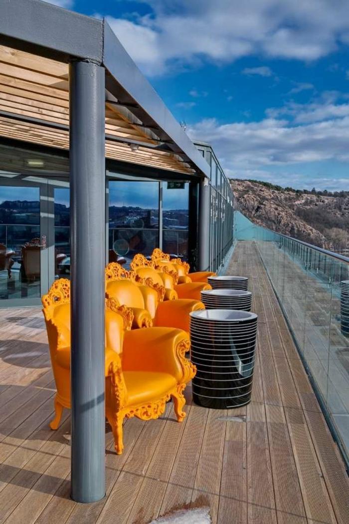 eklektischer Einrichtungsstil Terrasse