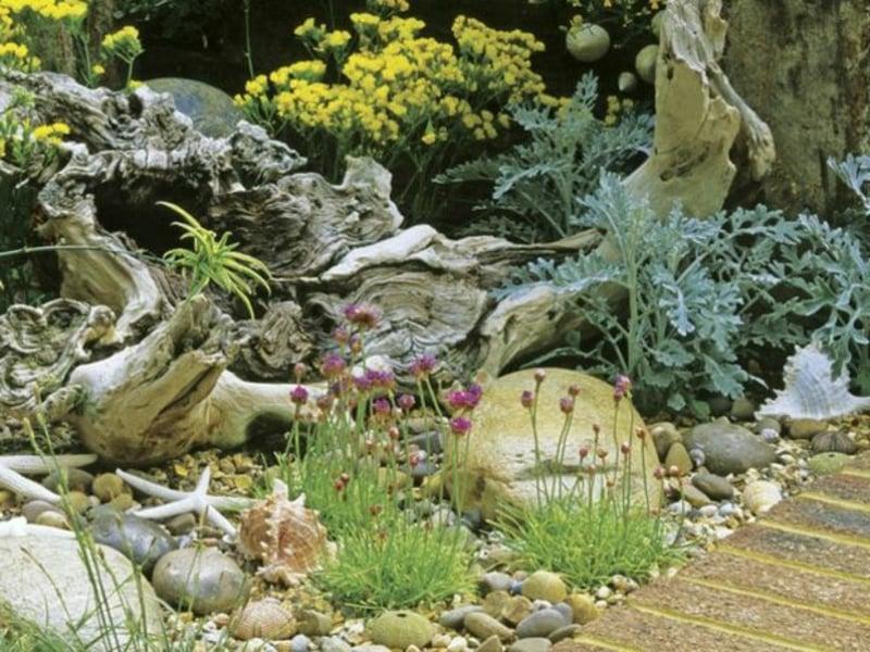 Garten maritim gestalten Deko Holz