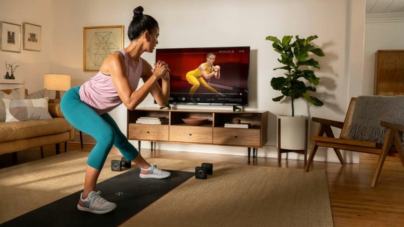 Zuhause trainieren Yoga Matte