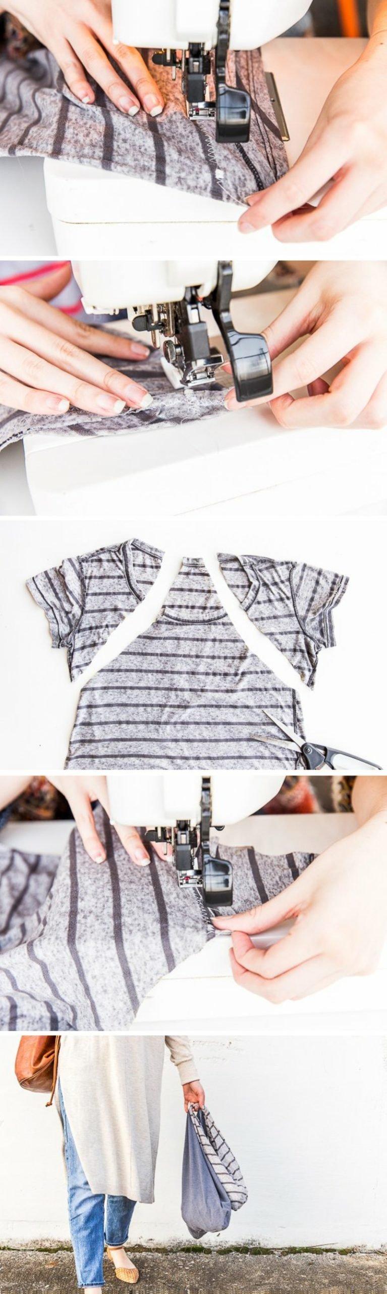 Upcycling Kleidung Bilderanleitung