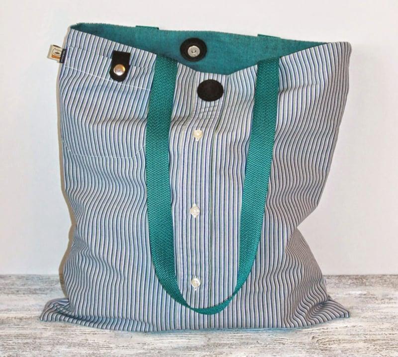 Upcycling Kleidung Stofftasche selber machen