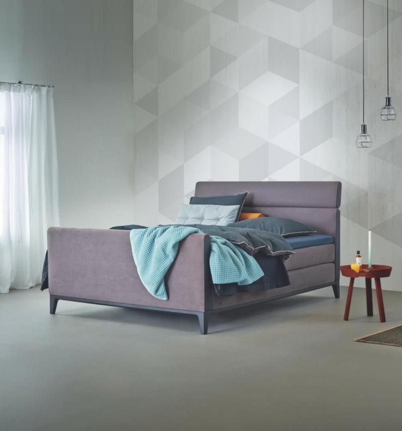 Schlafzimmerwand stilvolle geometrische Muster
