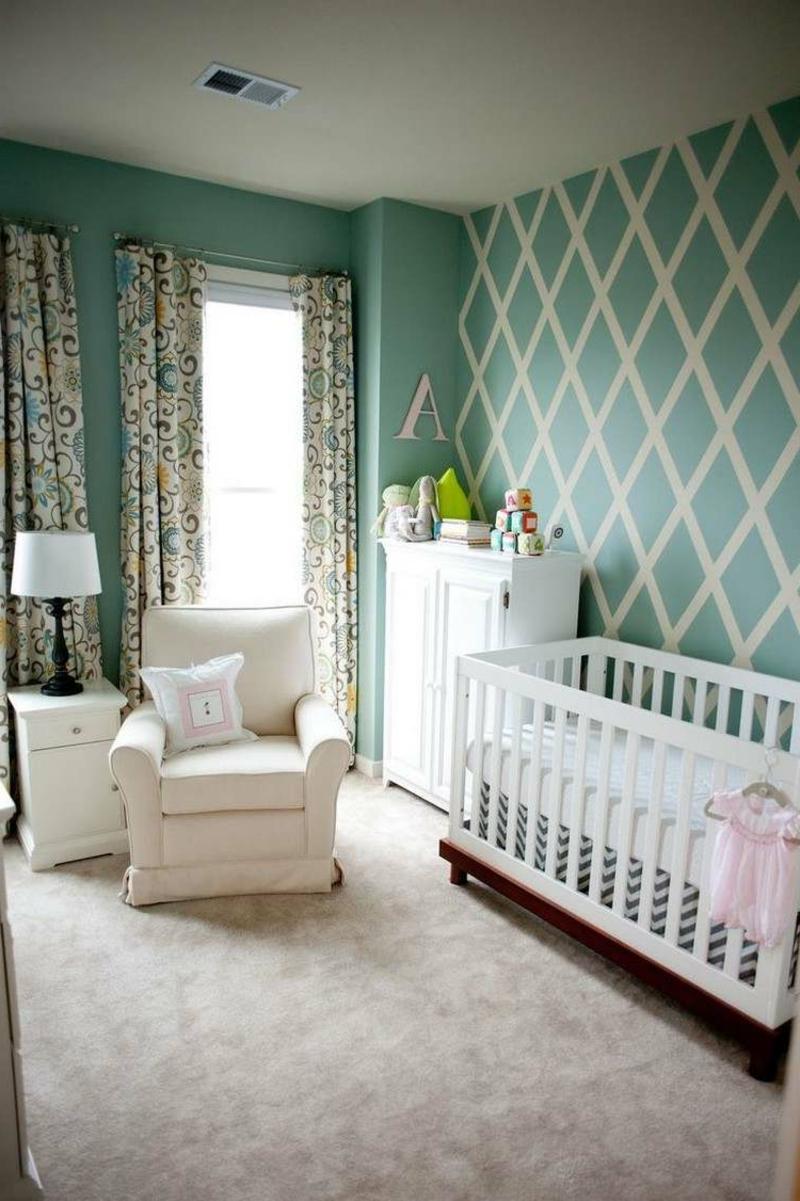 Wand streichen Muster Babyzimmer
