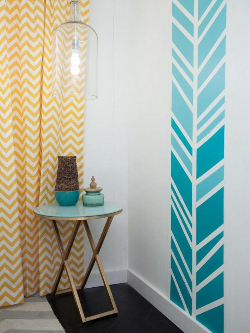 coole Ideen Wandgestaltung Schlafzimmer
