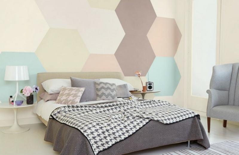 Wabenmuster geometrisch Schlafzimmer