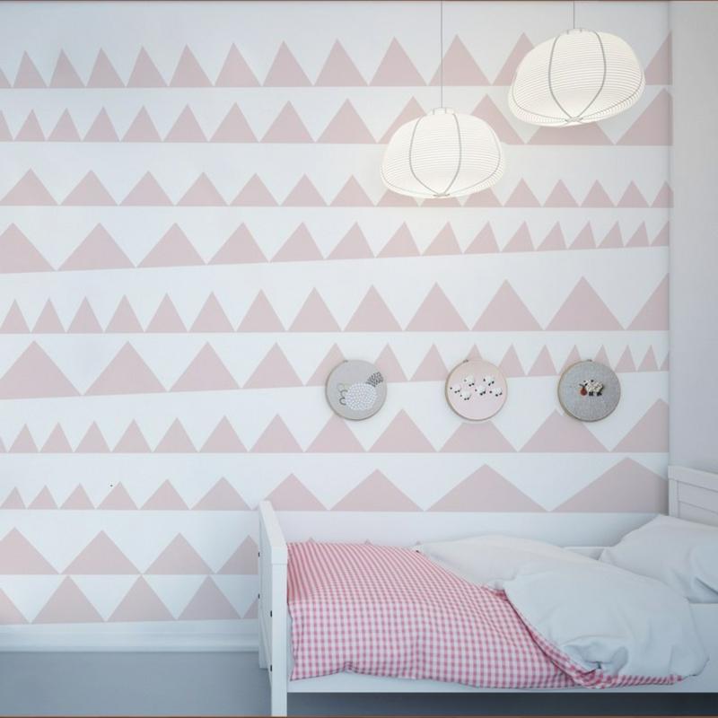 Wand streichen Muster Kinderzimmer