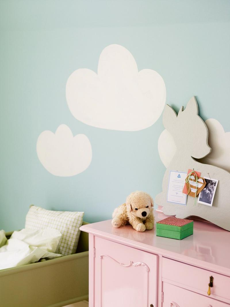 Wand streichen Muster Babyzimmer verschönern