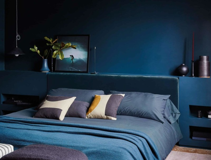 dunklere Farbtöne Schlafzimmer