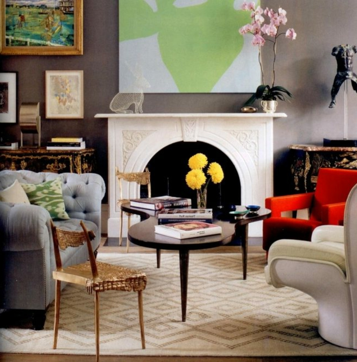 Wohnzimmer mit Kamin wunderschöner Look