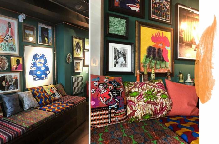 eklektischer Einrichtungsstil Wohnzimmer orientalische Akzente