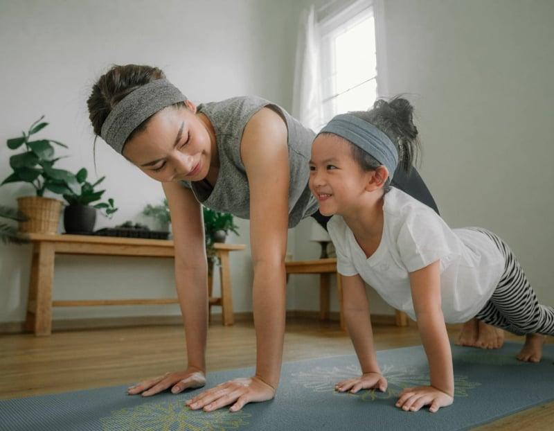 Workouts zu Hause machen