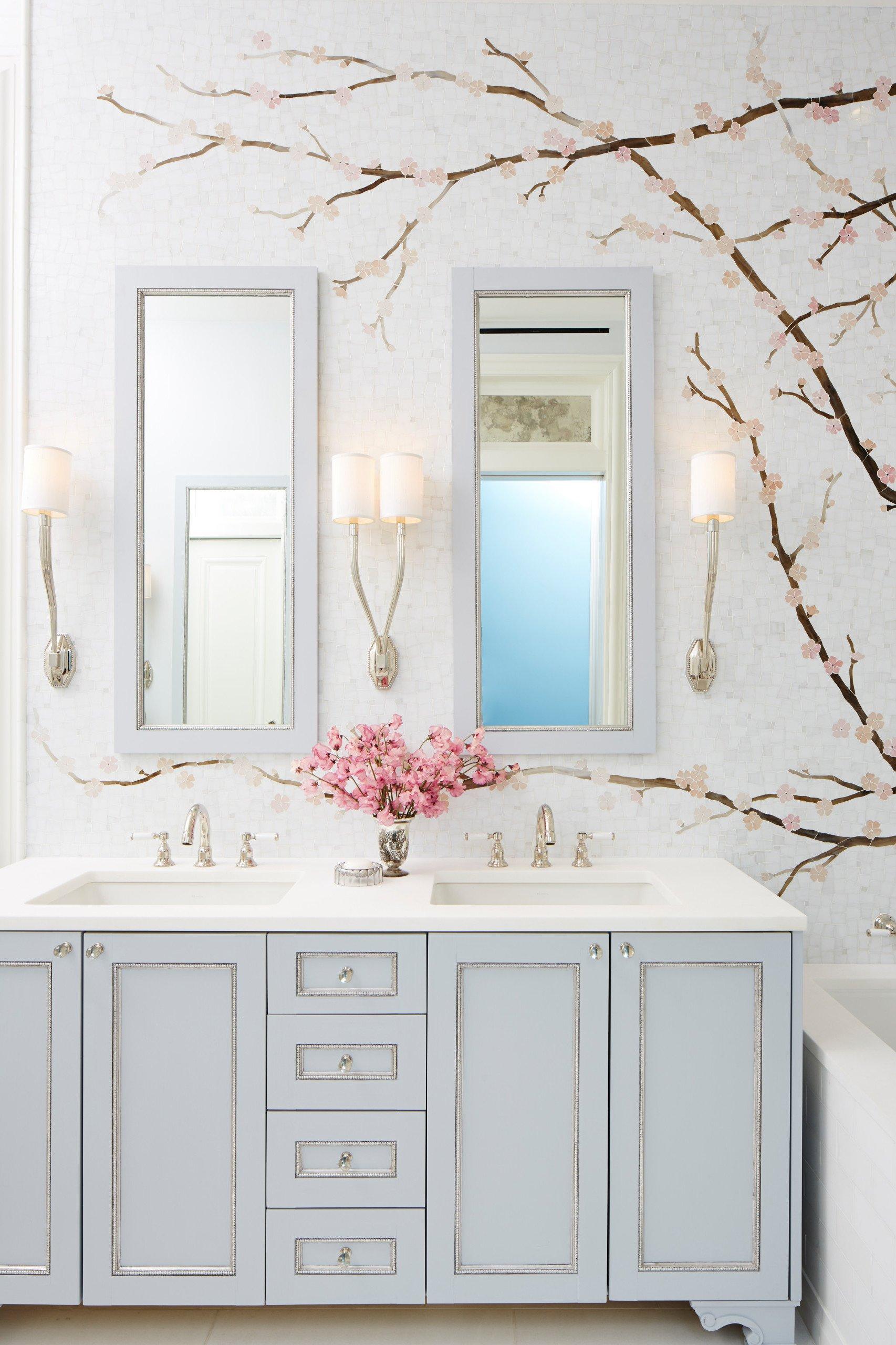 Bad renovieren mit Badezimmertapetten